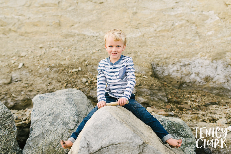 Bay Area lifestyle family photography session on Capitola Beach by Tenley Clark Photography.