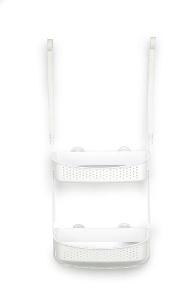 Gelmar Hanging Shower Shelf Unit, White