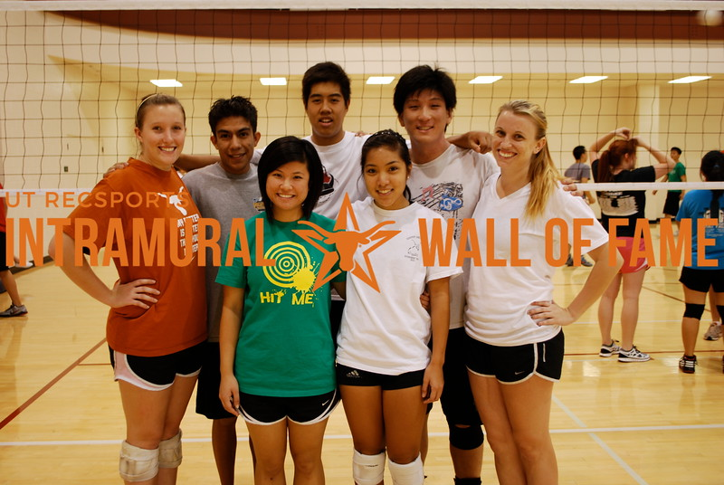 VOLLEYBALL Coed C Runner Up  I Get It In  R1: Tiffany Chung, Sabrina Chanthalath R2: Caitlyn Buxie, Dominic Morales, Kevin Li, Joseph Huang, Megan Hoklas Not Pictured: Dan Nguyen, Leonel Perez