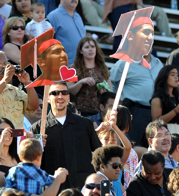 . Students and their families attend the 112th Whittier High School Commencement at Whittier College in Whittier on Wednesday June 12, 2013. (SGVN/Staff Photo by Keith Durflinger)