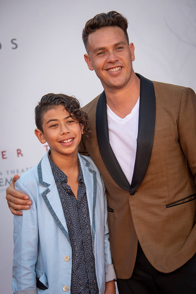 """WESTWOOD, CA - AUGUST 26: Kaden Michael Alejandro and Kevin Alejandro attend the Premiere Of Warner Bros. Pictures' """"It Chapter Two"""" at Regency Village Theatre on Monday, August 26, 2019 in Westwood, California. (Photo by Tom Sorensen/Moovieboy Pictures)"""