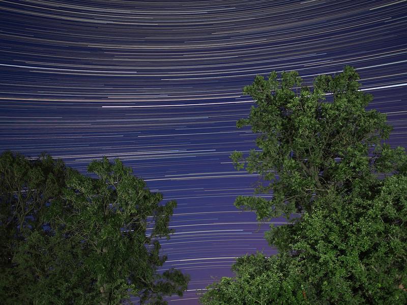 Reverse curvature Star Trail