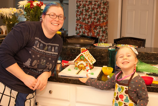 2016-Dec-17 - Making a Gingerbread House