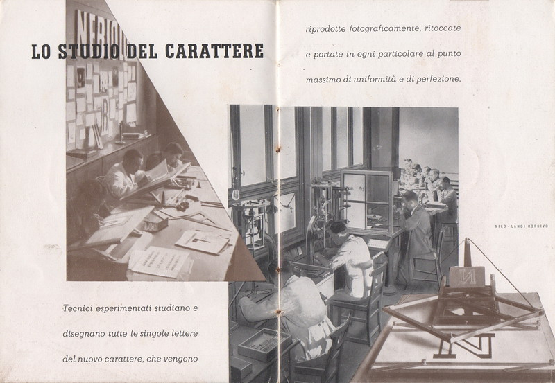 A glimpse on the Artistic Studio and the engraving department at Nebiolo. End of the 1930s.