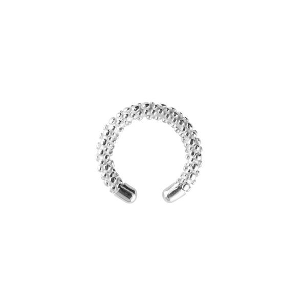 Victory bubble cuff ear silver