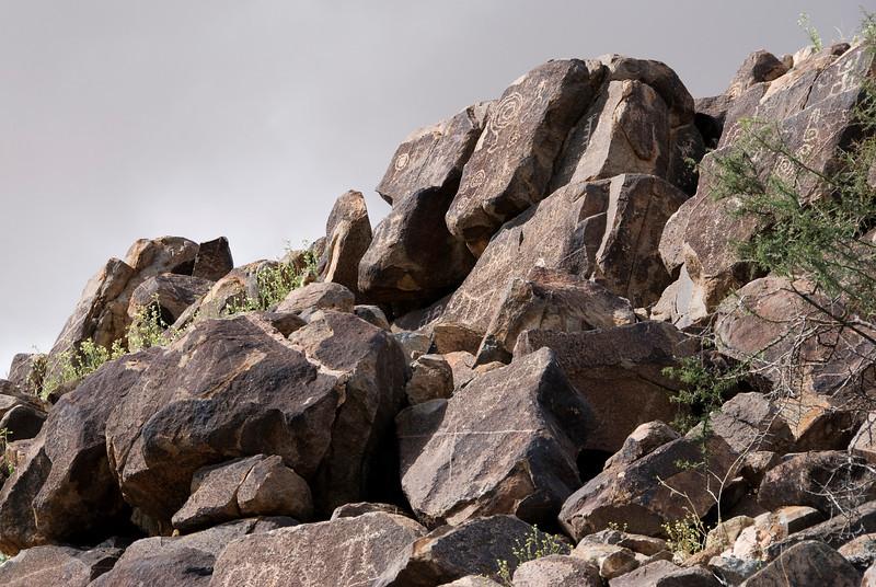 We take a short hike in the Saguaro National Park. Native petroglyphs.