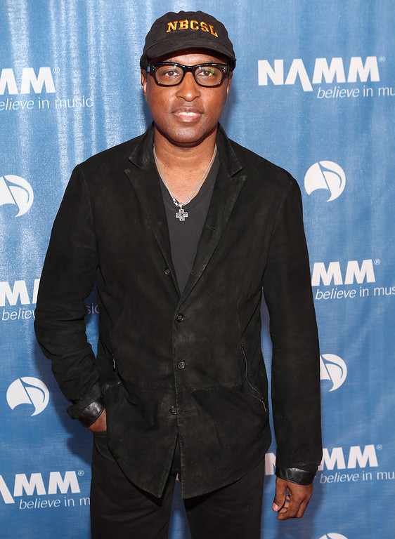 ". ANAHEIM, CA - JANUARY 23:  Kenny ""Babyface\"" Edmonds attends the 2014 National Association of Music Merchants show media preview day at the Anaheim Convention Center on January 23, 2014 in Anaheim, California.  (Photo by Jesse Grant/Getty Images for NAMM)"