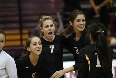 2014 Gilbert Girls Volleyball vs Hamilton 11-06-14 State Round 2