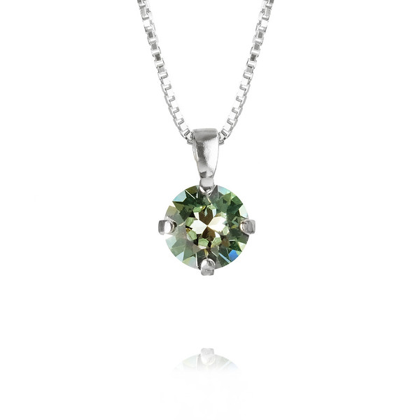 Classic Stud Necklace- Chrysolite-rhodium.jpg
