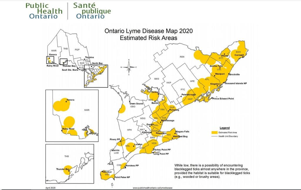 Ontario Lyme Disease Map