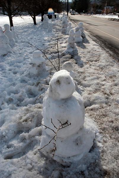 Newfane Snowmen