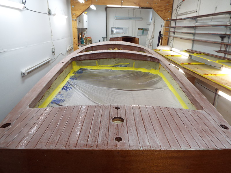 Rear deck and the rest of the deck sanded.