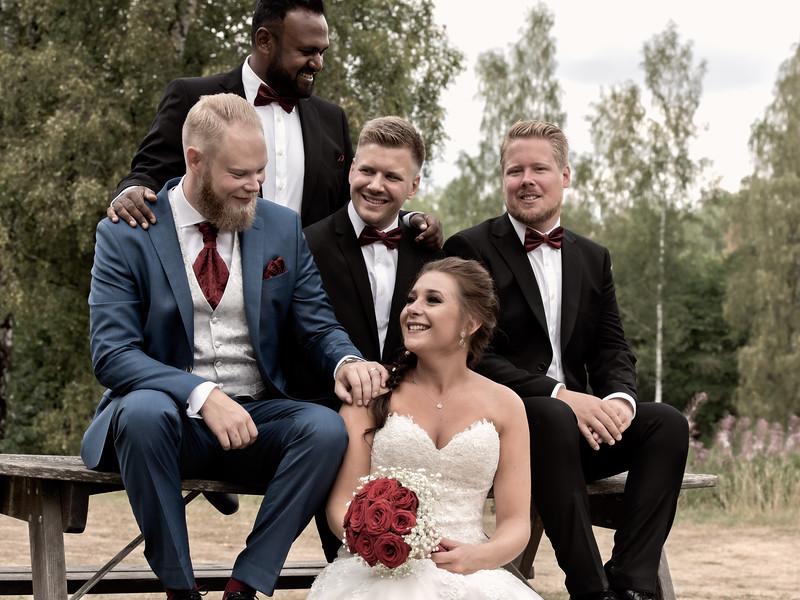 Bröllopsfoto Jessica och Christoffer