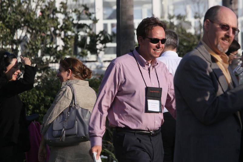 (L-R) Petra Vorsteher, EVP and Co-Founder, Smaato; unidentified guest; Matthias Hohensee, Senior U.S. Correspondent, Wirtschaftswoche; and Joe Sterling, FiReScribe 2009