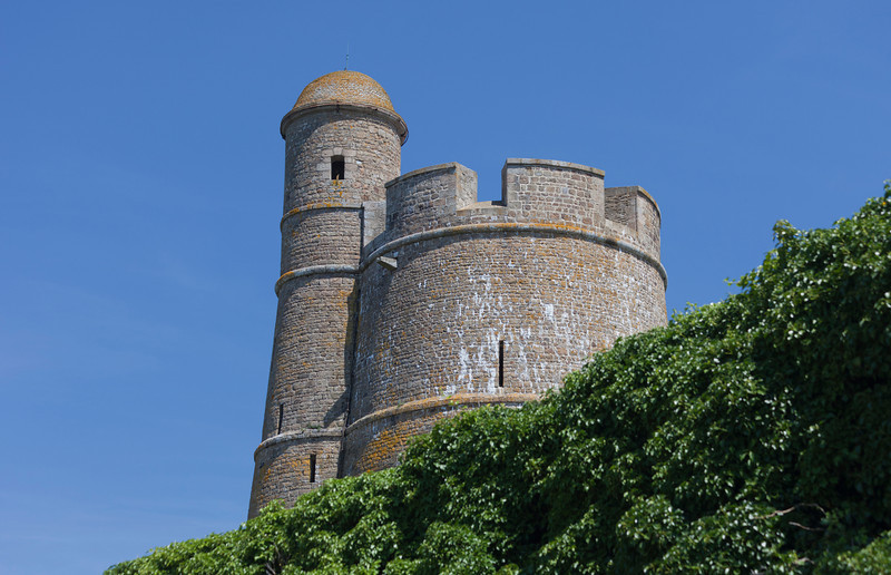 Lookout Tower Vauban of Fort de la Hougue - Built 1694 in Saint-Vaast-la-Hougue, Basse Normandy, France