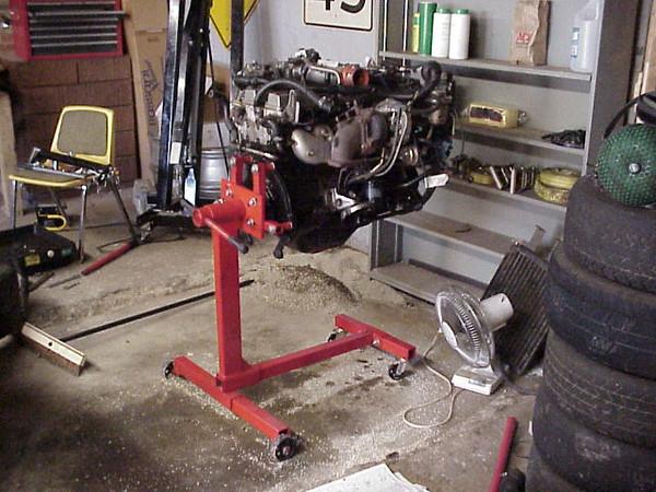 Engine still on stand