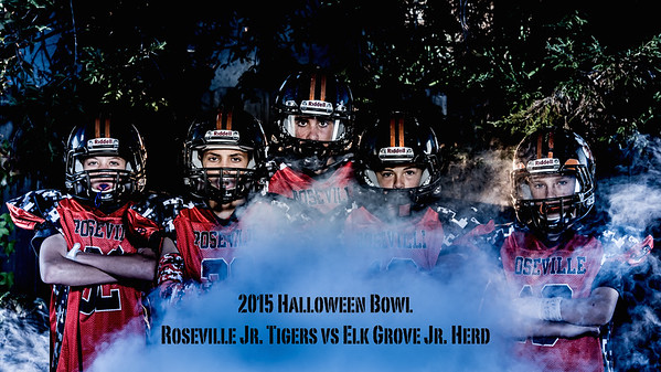 Roseville Jr Tigers Halloween Bowl Photo Shoot 10-25-15
