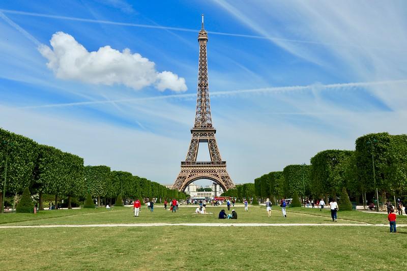 Eiffel Tower and Champ de Mars park - Paris, France