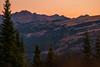 The Gore Range, CO at sunrise
