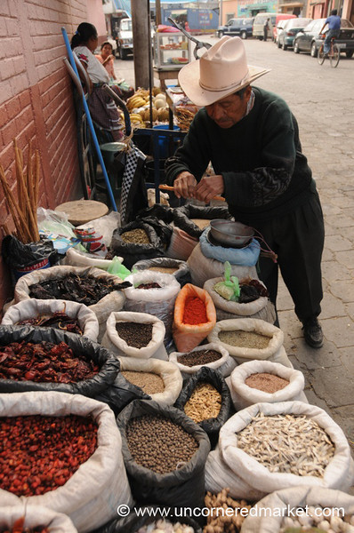 Ingredients for Pepian at Market - Xela, Guatemala