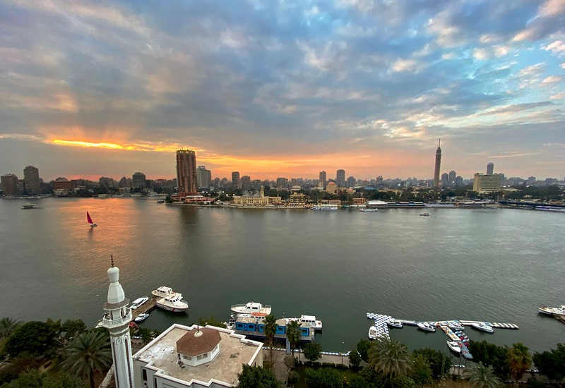 Sunset over the Nile in Cairo