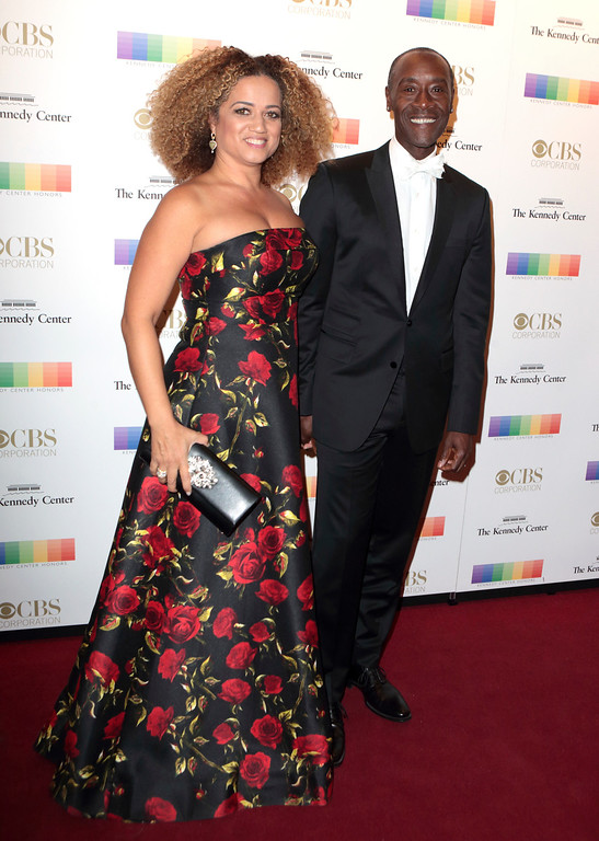 . Don Cheadle, left, and Bridgid Coulter attend the Kennedy Center Honors gala at the Kennedy Center on Sunday, Dec. 4, 2016, in Washington. (Photo by Owen Sweeney/Invision/AP)