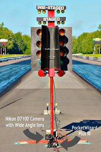 Nikon D7100 camera at the base of the