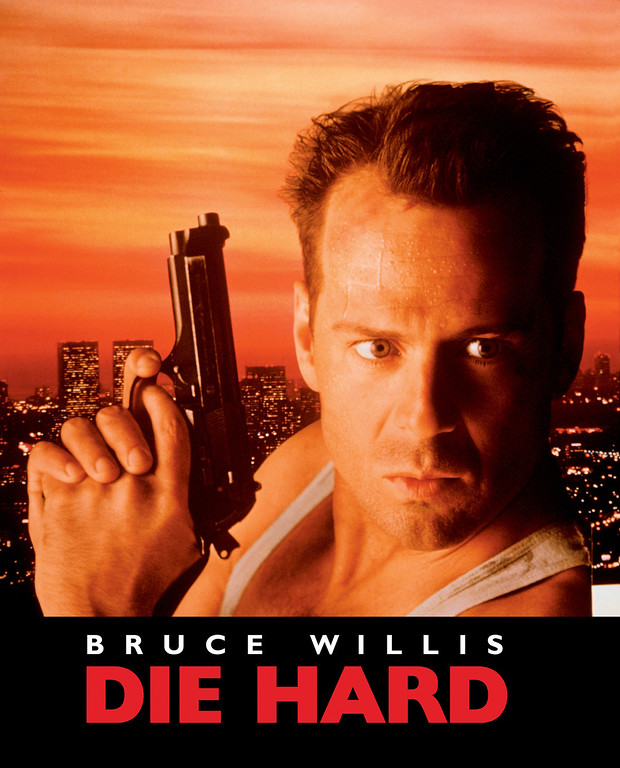 """. The first \""""Die Hard\"""" movie starring Bruce Willis as New York City Detective John McClane is released on 7/15/88."""