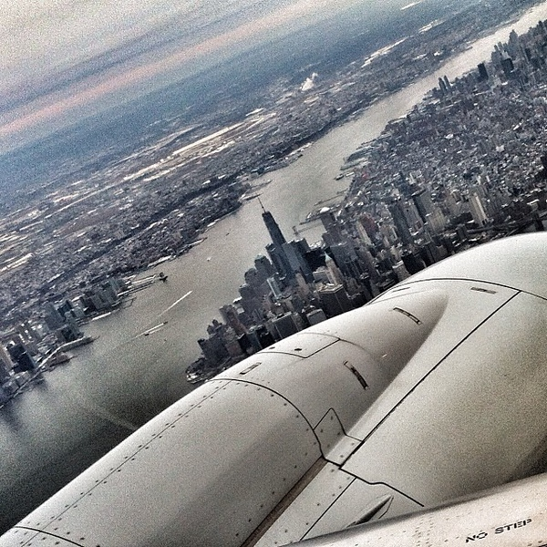 Even when it's grey and cold, #Manhattan always looks good from above on @americanair #nyc