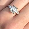 2.03ct Emerald Cut Diamond Ring, GIA K IF 1
