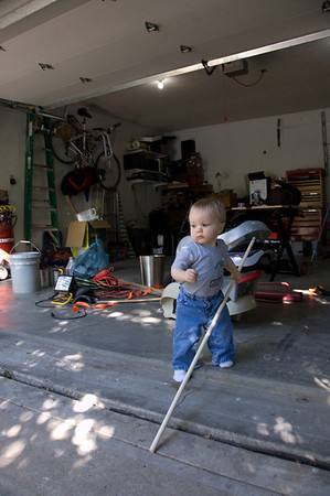 Cleaning the garage