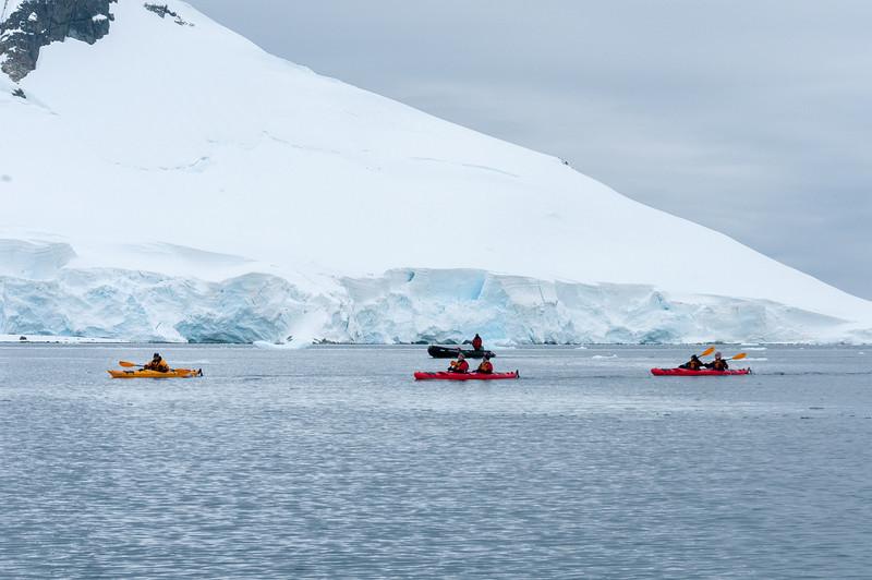 Kayaking in Paradise Bay, Antarctica