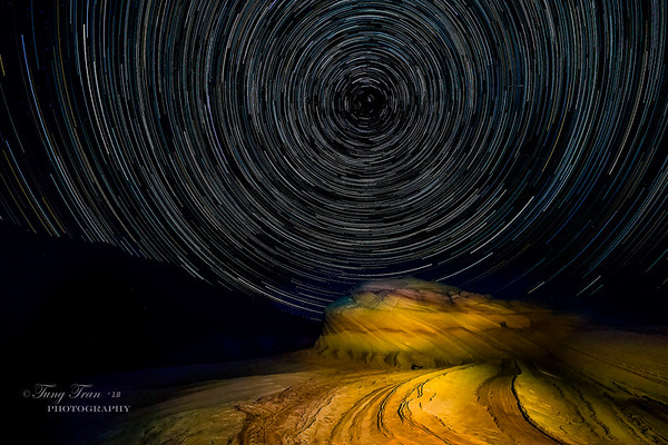 Star Trail (On top the Wave II)