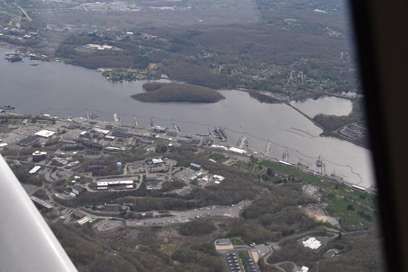 submarine base at New London, CT