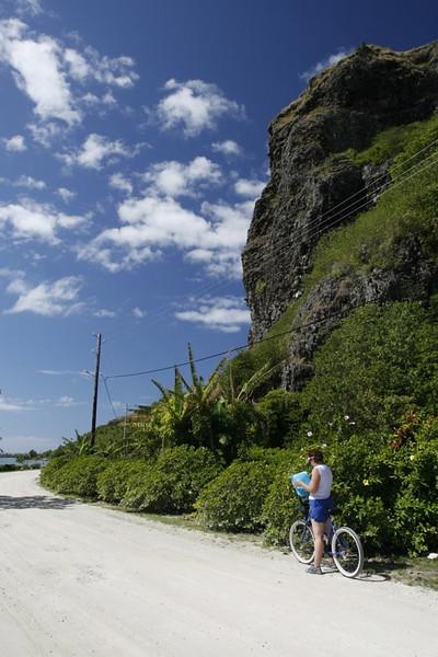 Views while bicycling around Maupiti