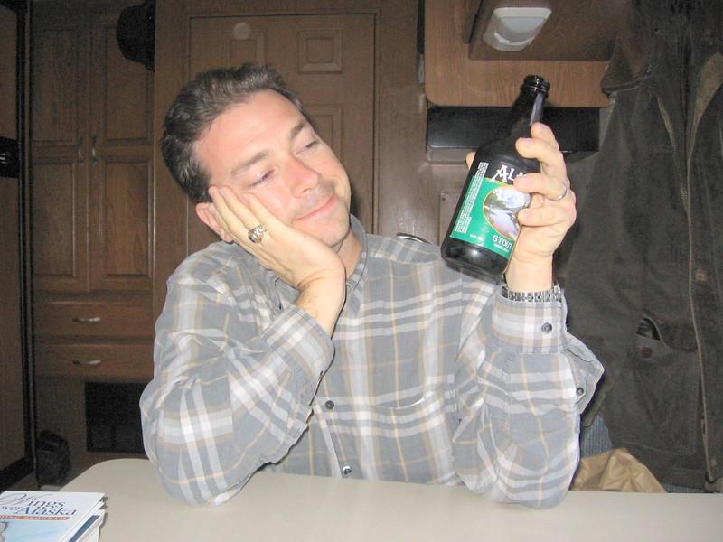An Alaskan Drinking an Alaksan in Alaska