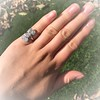 2.50ctw Geometric Old Mine Cut Diamond Dinner Ring 25