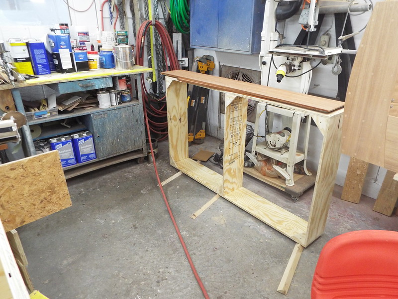 Base for the seat built.