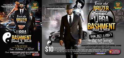 """BRUCE BRUZER """"LIBRA / BLACK WHITE BIRTHDAY BASH 2017""""(10)"""