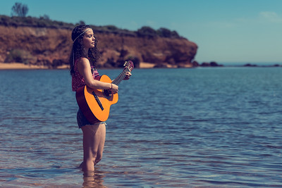 Mornington Peninsula Beach Portrait (1) - The Guitarist in Natural Beauty with Natural Beauty (NSFW)