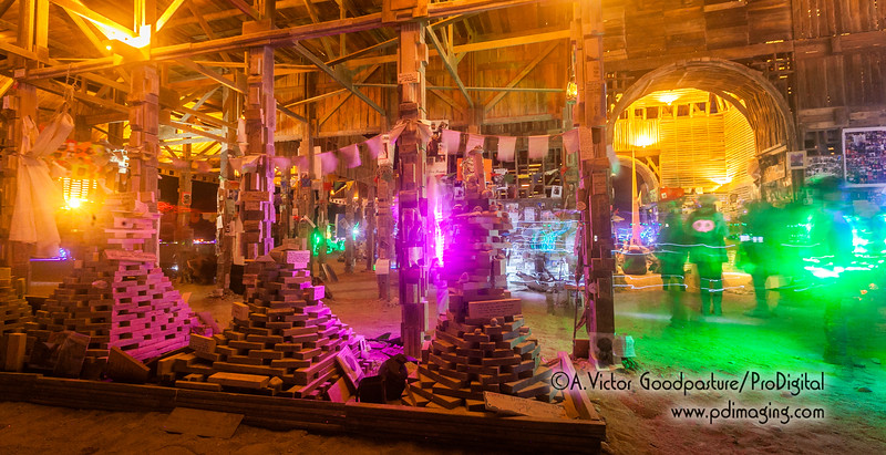 Inside the Temple, people pray, meditate and memorialize passed loved ones. Sunday evening, Burning Man ends with the burning of the Temple and all of these mementos.