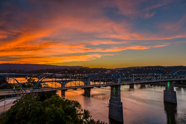 June 26 and 28, 2017 Chattanooga Sunset