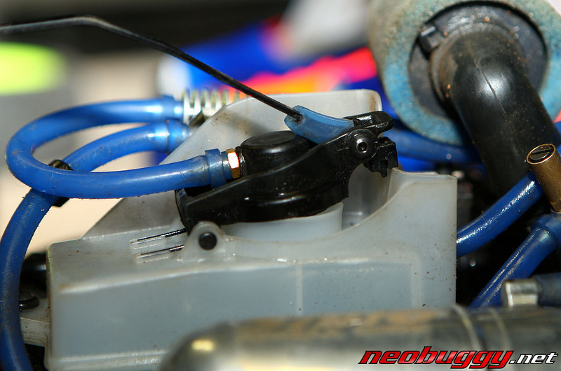 2009 Pierrefeu GP - Sunday Finals  The cause of Jerome's flameout, tie wrap sticking to the fuel spill cover.
