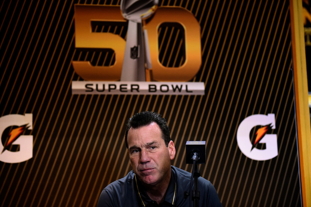 . SAN JOSE, CA - FEBRUARY 01: Denver Broncos head coach Gary Kubiak during the Super Bowl 50 Opening Night at the SAP Center, San Jose, CA. February 01, 2016 (Photo by Joe Amon/The Denver Post)