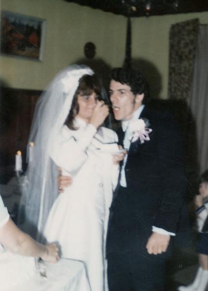 Debbie's first wedding to Palistino.  Cropped.