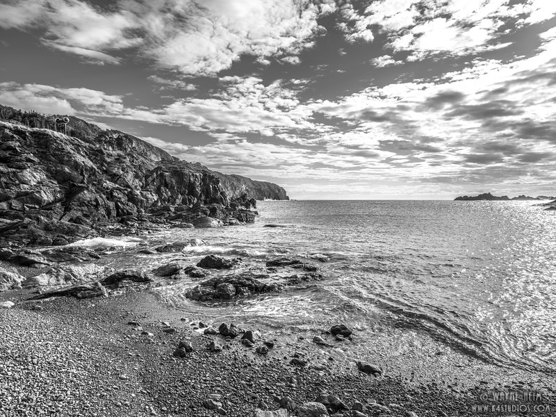 Rocky Beach    Black and White Photography by Wayne Heim