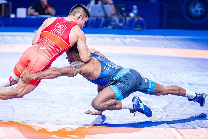 3rd Place Match: Jordan Ernest Burroughs (United States) over Mao Okui (Japan)  •  TF 10-0 - 2019 World Championships
