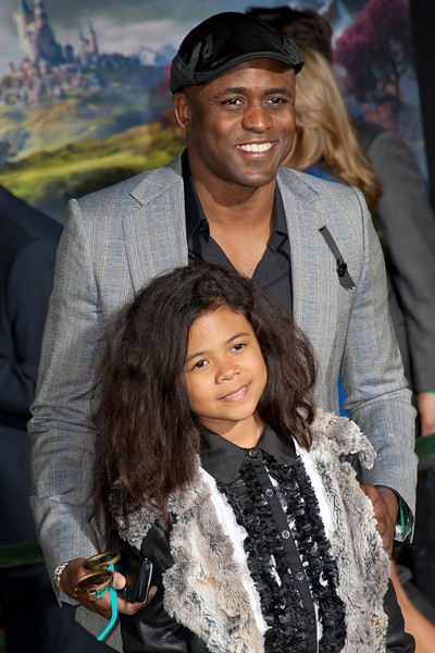 HOLLYWOOD; CA - FEBRUARY 13: Actor Wayne Brady and guest arrive at the world premiere of Walt Disney Pictures' 'Oz The Great And Powerful' at the El Capitan Theatre on Wednesday February 13; 2013 in Hollywood; California. (Photo by Tom Sorensen/Moovieboy Pictures)