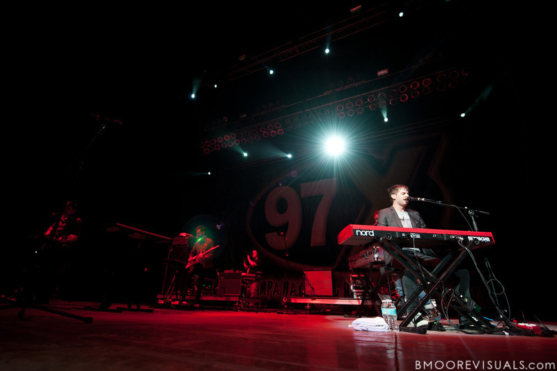 Mark Foster of Foster The People performs on December 3, 2011 during 97X Next Big Thing at 1-800-ASK-GARY Amphitheatre in Tampa, Florida