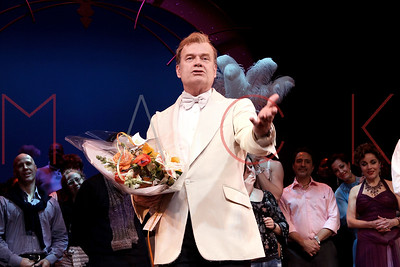 """New York, NY - February 13:  The curtain call for """"La Cage Aux Folles"""" on Broadway, New York, USA."""